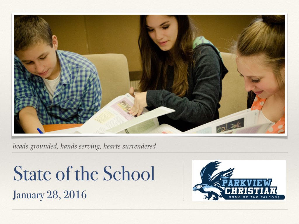 State of the School 2105.001